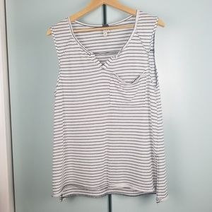 Free people stripe basic tank top size xs -N1